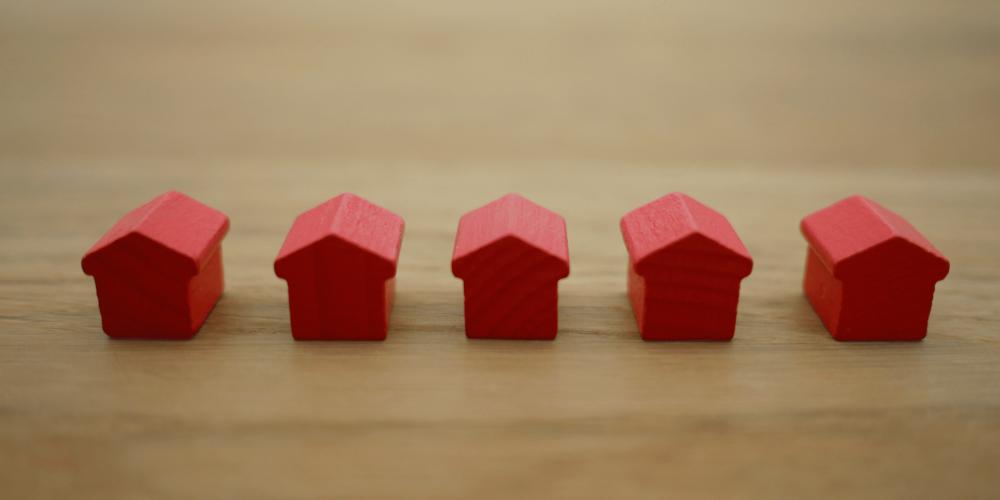maquete representando o índice de aluguel